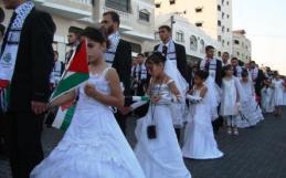 Групова сватба на 11 годишни момичета в Газа 2011г.