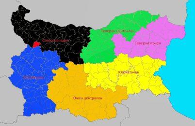 региони в България с показана община Вършец