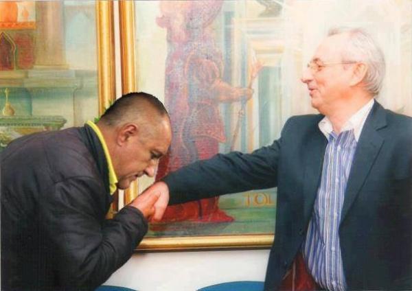 Борисов целува ръка на Местан